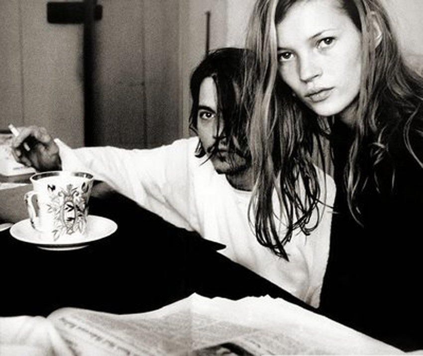 2 Johnny Depp Kate Moss